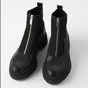 Zara ankle boots with zipper- SOLD